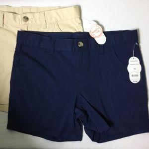 NWT -NEW Wonder Nation (2) Adjustable Waist Shorts